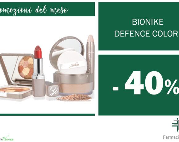 SCONTO 40% make-up Bionike Defence Color + DEFENCE BOOST OMAGGIOall'acquisto di crema viso Skinergy e MyAge.