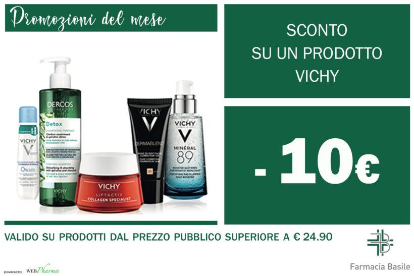 Sconto -10€ sull'acquisto di un prodotto Vichy .